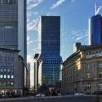 OmniTurm Frankfurt - Wolkenkratzer mit Knick - Hochhaus Bankenviertel 2019 von BIG Bjarke Ingels - Omni Turm Hochhaus