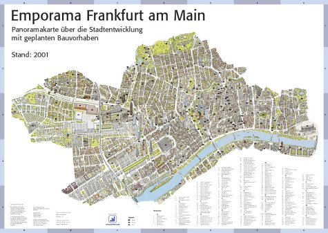 Emporama Frankfurt - Panoramakarte Frankfurt - Stadtentwicklung - Poster
