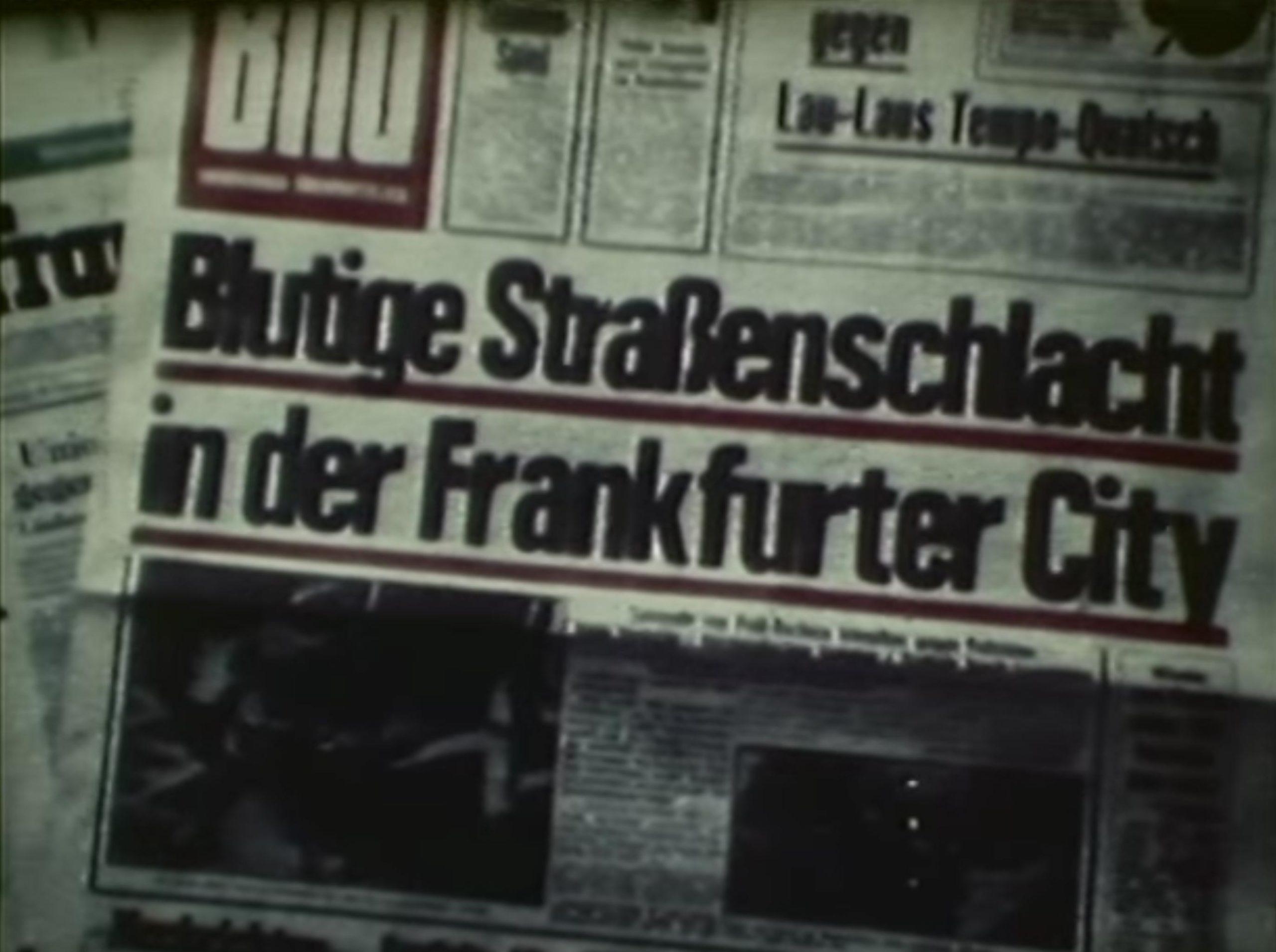 BILD Frankfurt - Blutige Straßenschlacht in der Frankfurter City