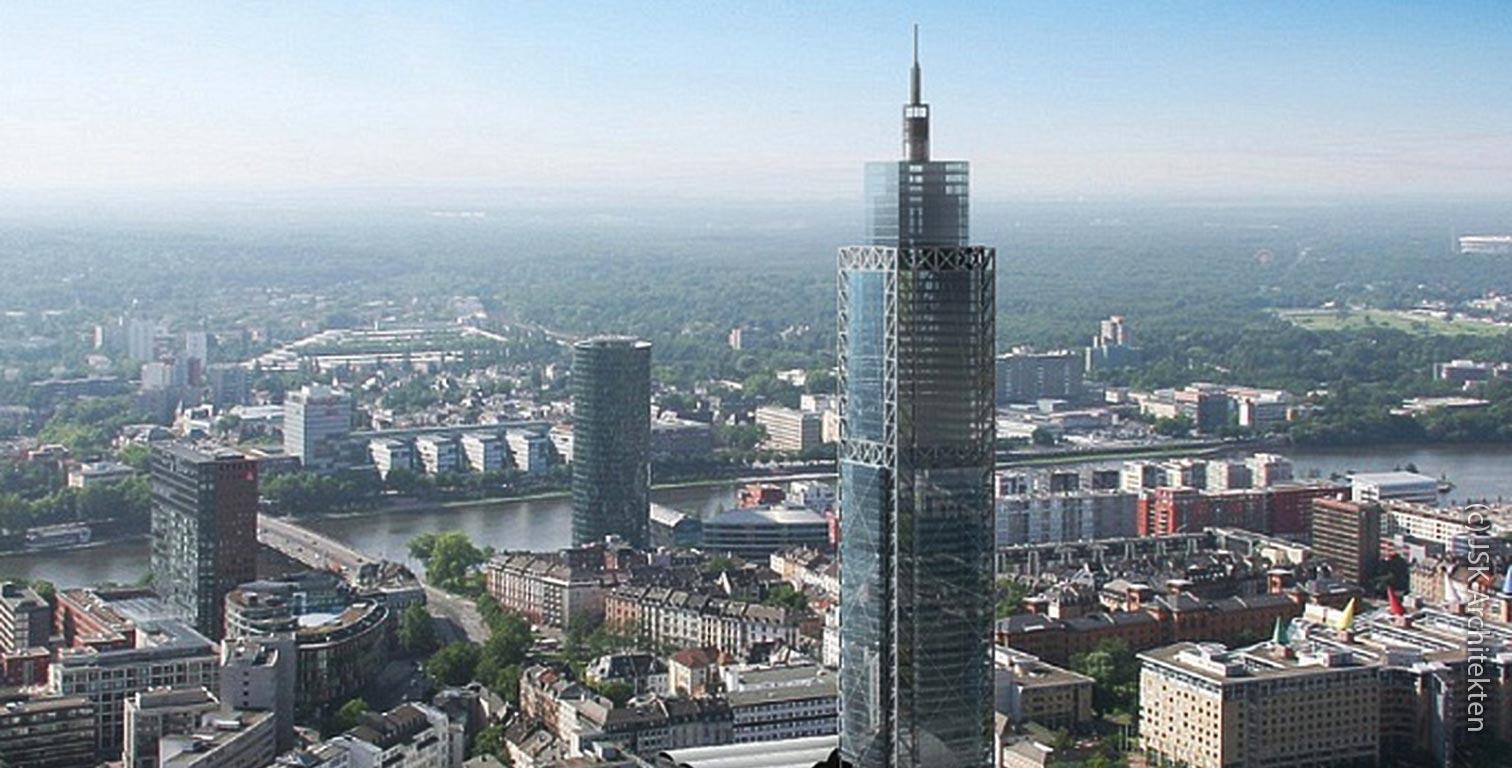 Campanile Frankfurt - Bahntower Frankfurt - nie errichtetes Hochhaus
