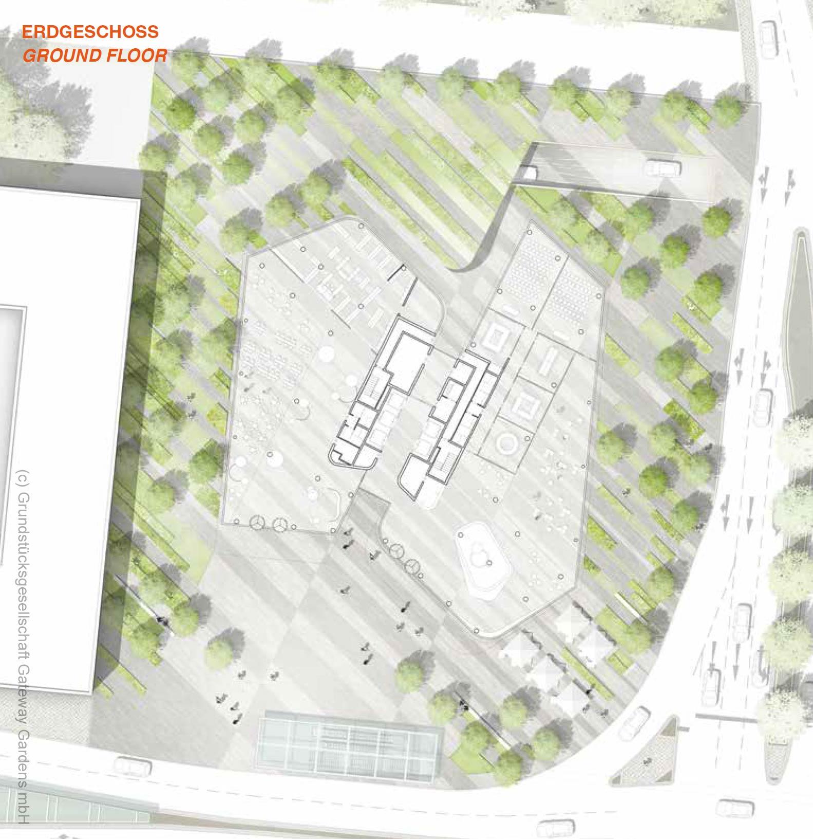 Baugrundstück Baufeld 3 - Hochhaus Steigenberger Kongress Hotel Gateway Gardens