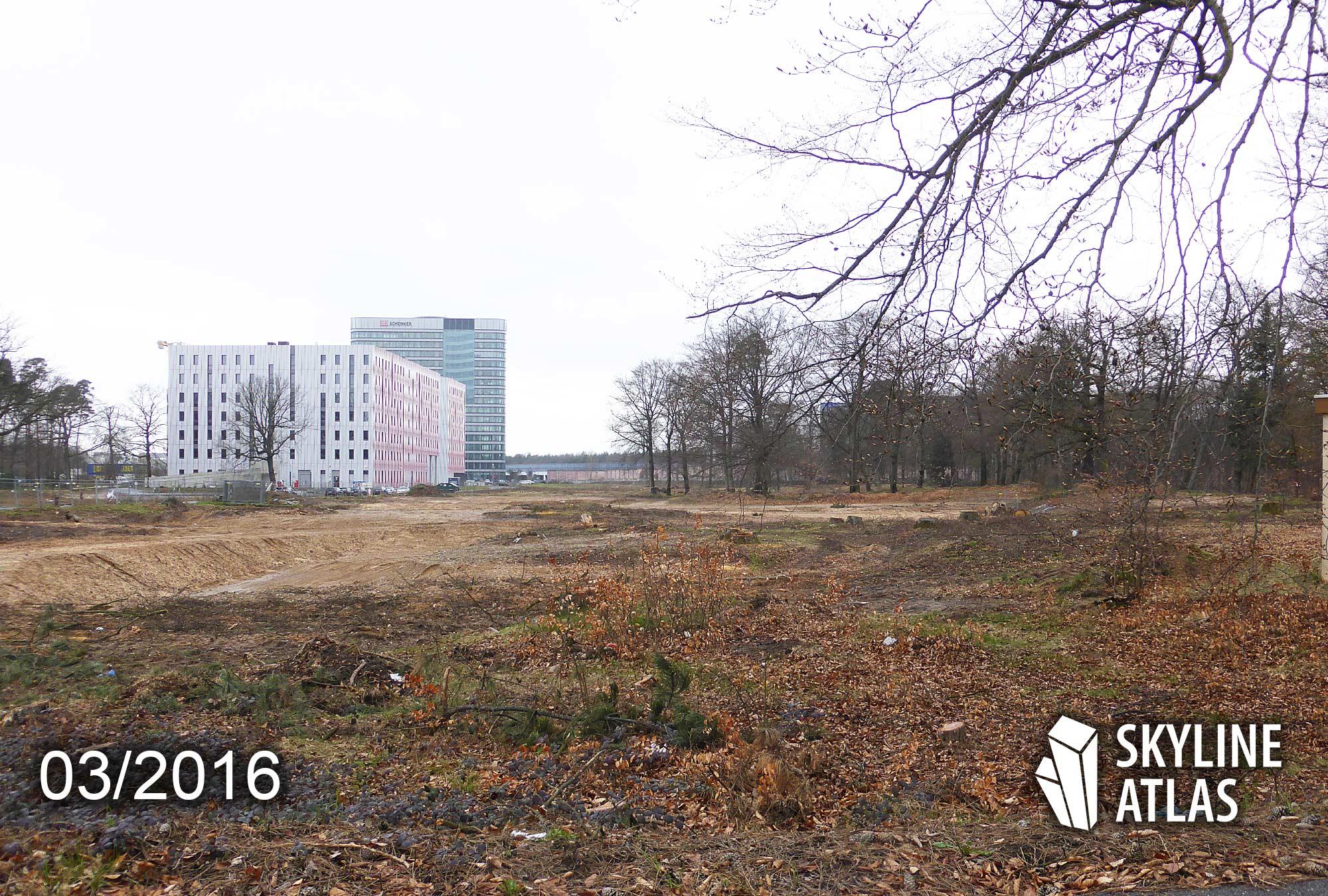 Baufeld 3 Gateway Gardens - Standort vom künftigen Steigenberger Flughafenhotel Frankfurt