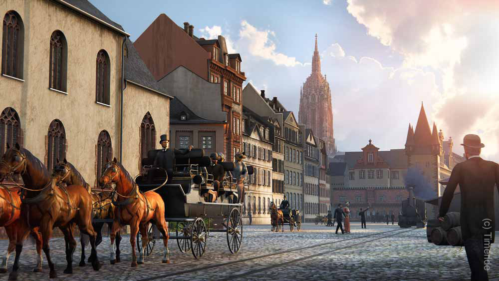 Timeride Frankfurt - Die Altstadt im Jahr 1891 - Sehenswürdigkeit Frankfurt am Main