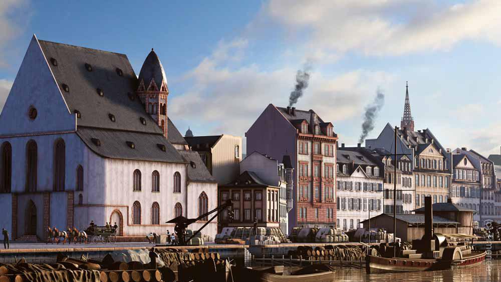 Timeride Frankfurt - Mainufer - VR - Virtuelle Tour durch Frankfurt