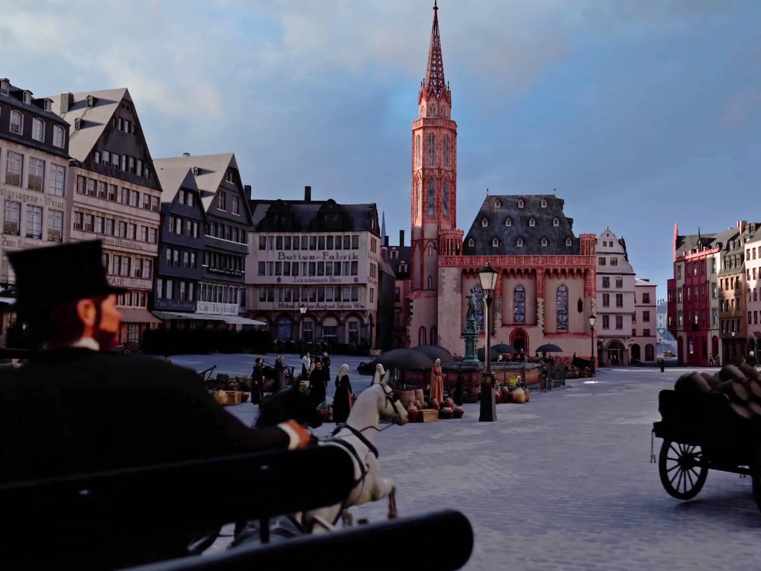 Rundfahrt in Frankfurt - Tipp für schlechtes Wetter beim Besuch - Besuchstipp innen - Citytour Frankfurt - Visualisierung TimeRide Frankfurt