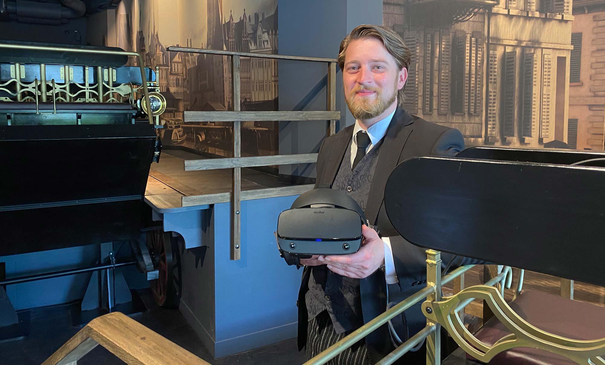 Jonas Rothe im Interview - Zeitreise Frankfurt - Zeitreisen in Deutschland - Time Ride Kutschfahrt mit Virtual Reality das alte Frankfurt besuchen