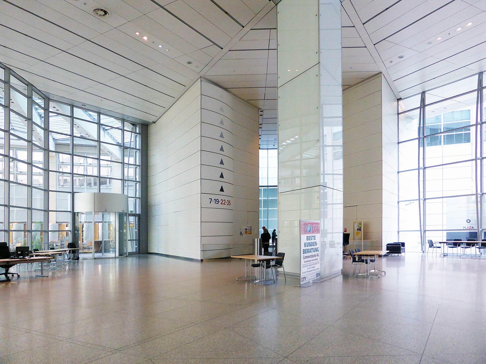 Commerzbank Frankfurt - Commerzbank Hauptquartier - Eingangshalle - Lobby vom Commerzbank Bankenturm