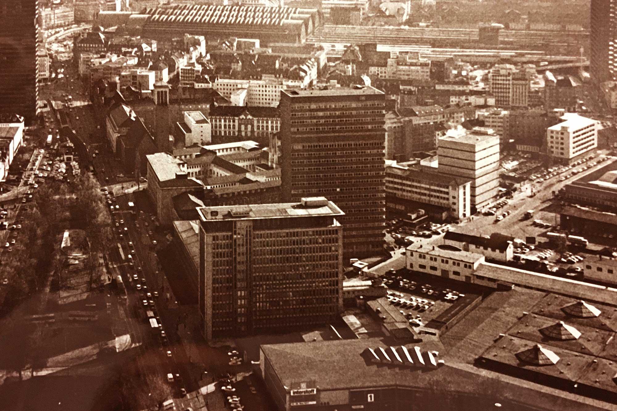 Deutsche Bahn AG - Hochhäuser an der Friedrich-Ebert-Anlage in Frankfurt am Main
