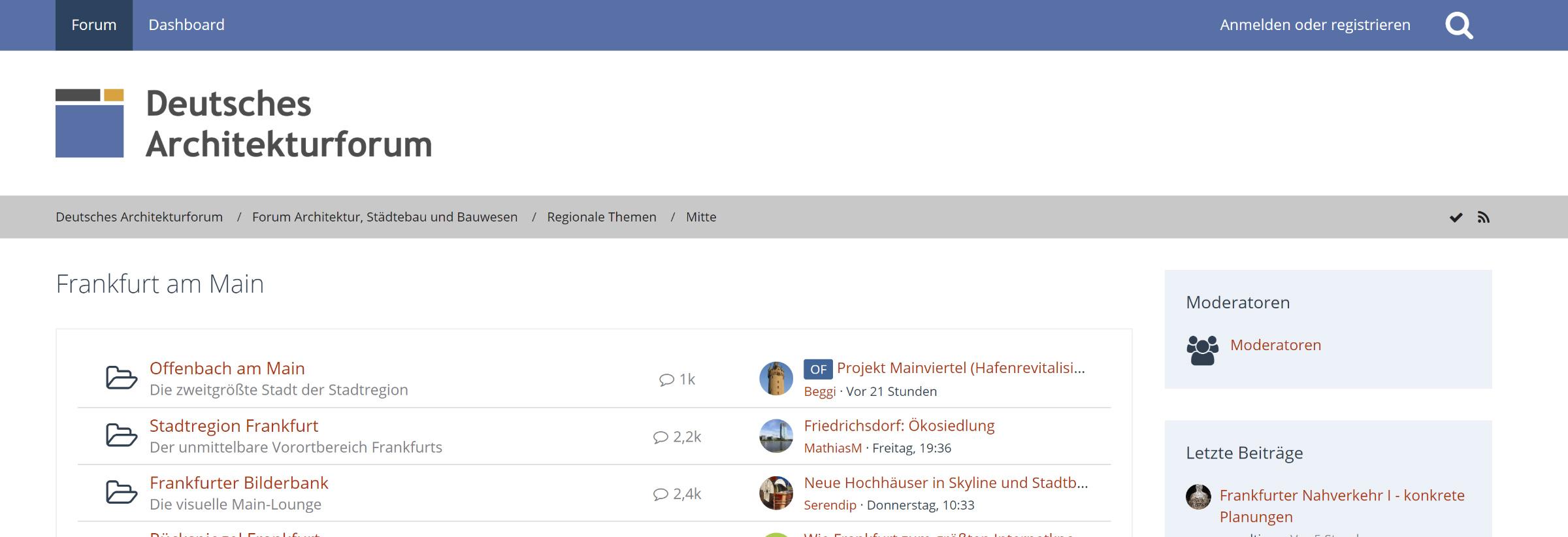 Was ist das Deutsche Architekturforum?