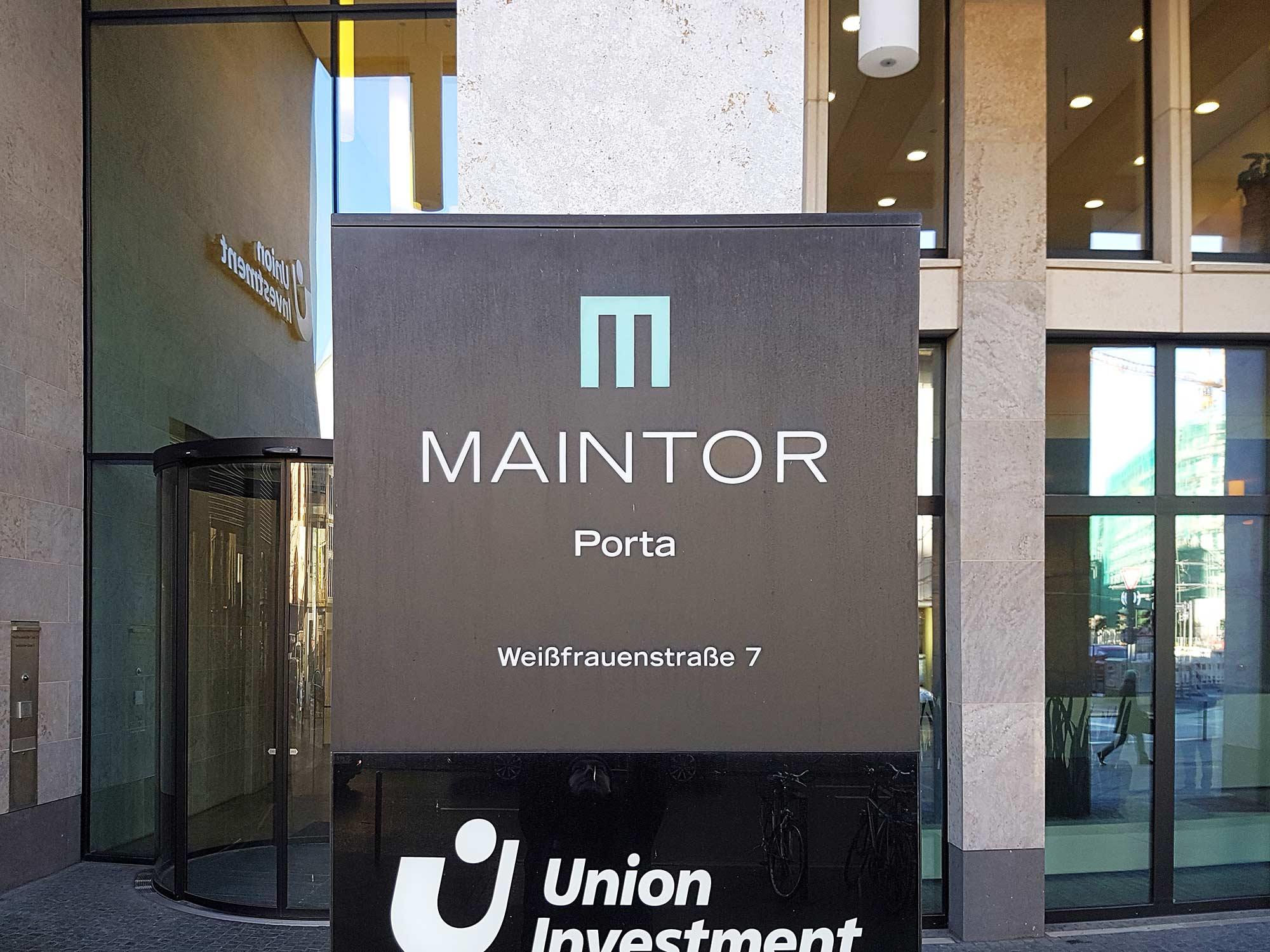 MainTor Porta Frankfurt - Union Investment Logo
