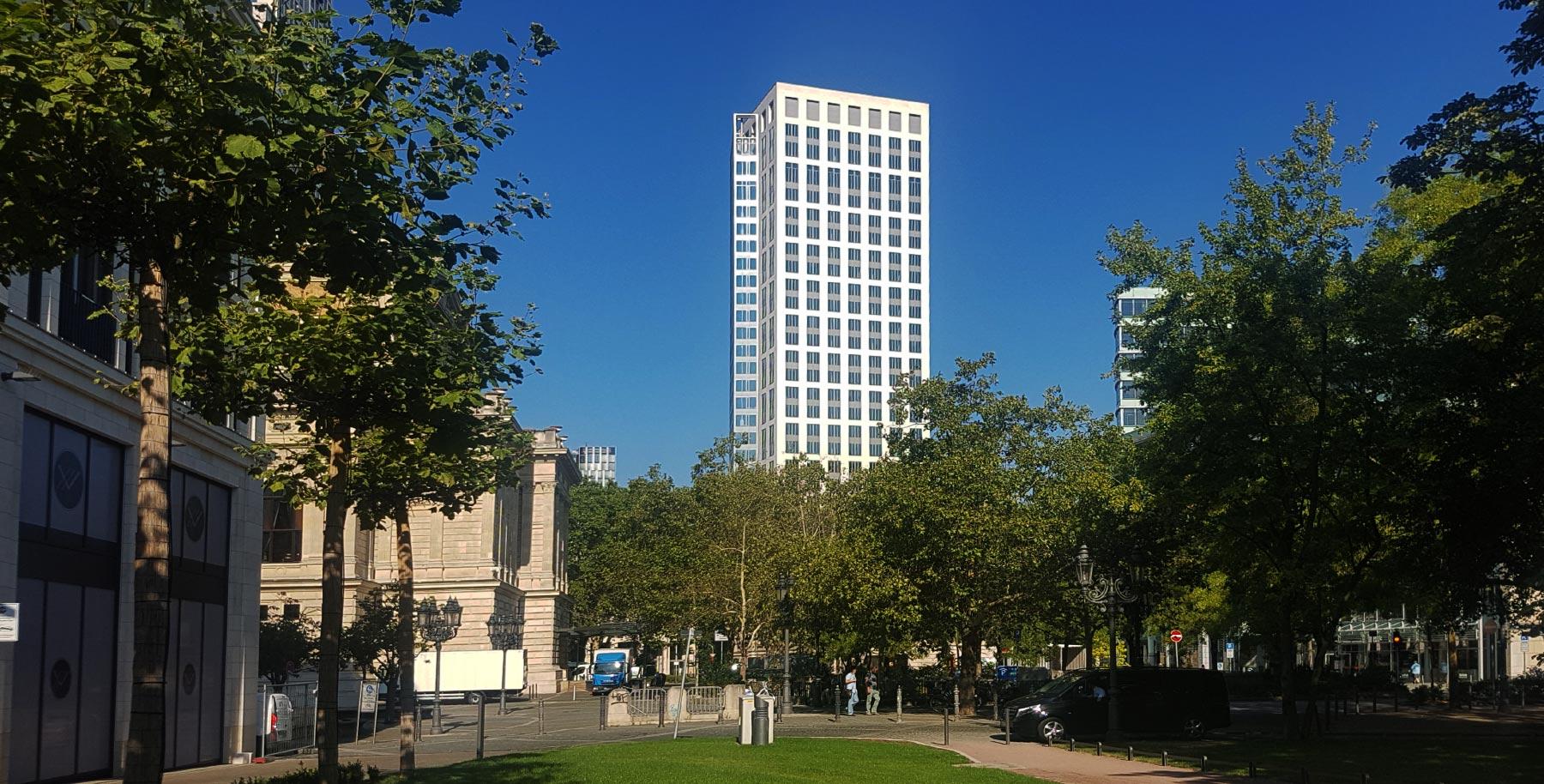 Park Tower in Frankfurt am Main - Parktower am Reuterweg - Hochhaus Westend Frankfurt - Büroturm an Parkanlage
