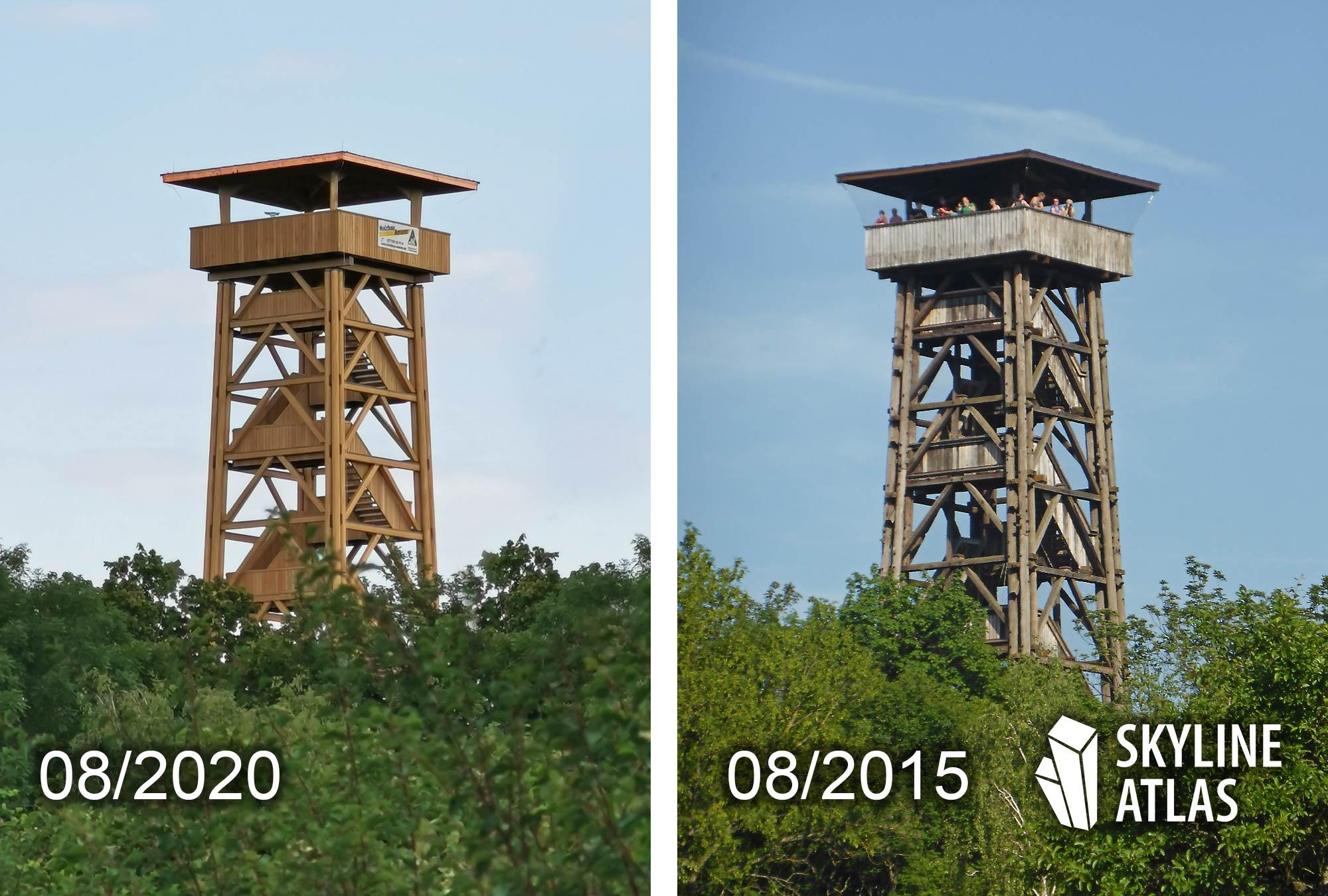 Goetheturm Neubau vs Goetheturm Altbau - neu vs alt - früher vs heute