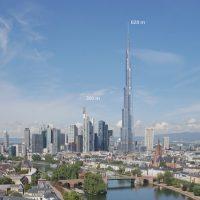 Höchster Wolkenkratzer der Welt steht bei uns jetzt in Frankfurt