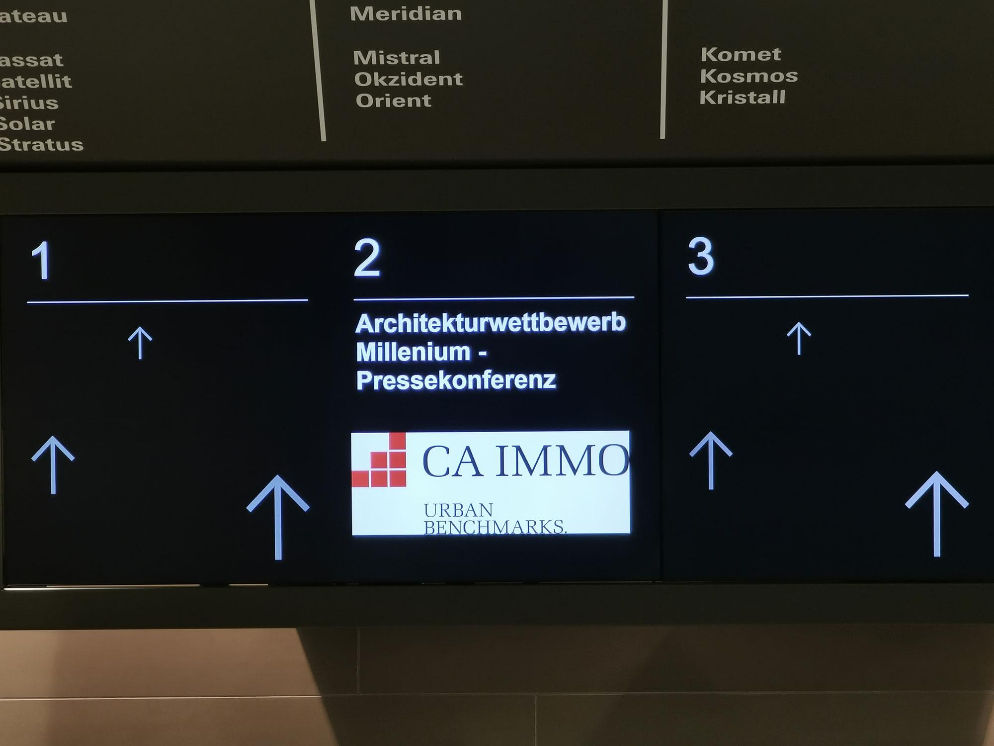 Architektur Wettbewerb - Millennium Areal Pressekonferenz - Millennium Tower - CA Immo - Urban Benchmarks