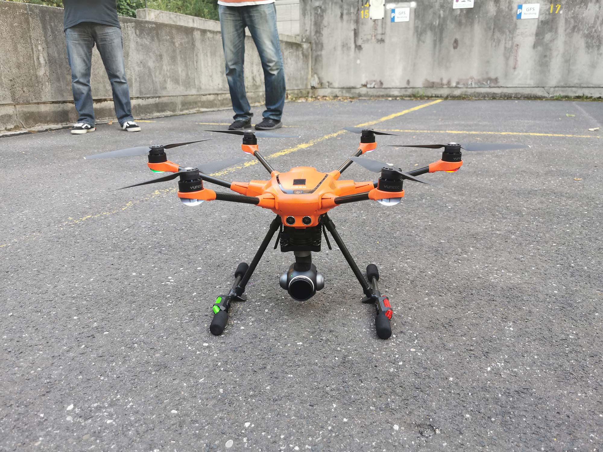 Drohne beim Drohnentreffen von SKYLINE ATLAS in Frankfurt - Meetup Drohnen Piloten