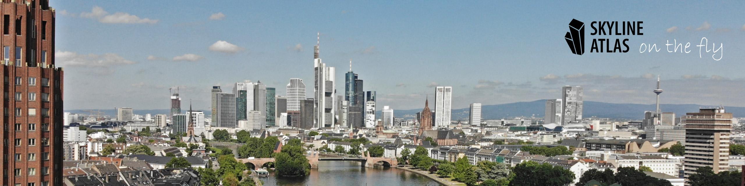 Drohnenaufnahmen in Frankfurt und dem Rhein-Main-Gebiet - Skyline Frankfurt mit der Drohne - Fotoservice Hochhäuser - Luftaufnahmen Immobilien Frankfurt am Main