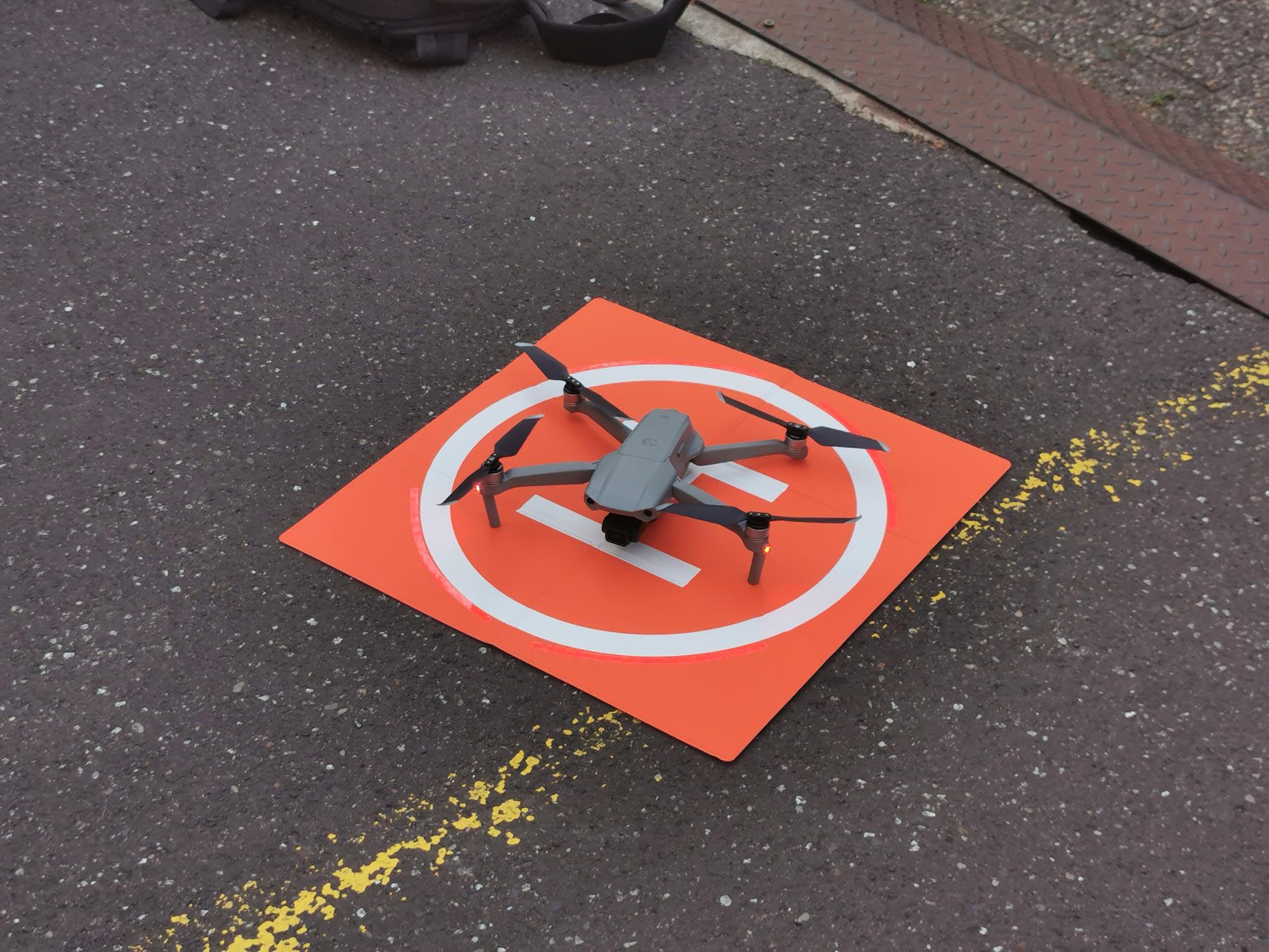 Drohnenflug in Frankfurt - Drohne - Starterlaubnis für Drohnenflug - Landeplatz - Startplatz