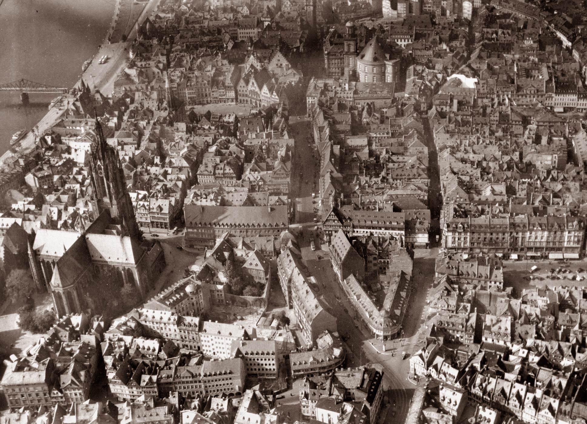 Historische Altstadt Frankfurt - im Jahr 1942 - vor der Zerstörung