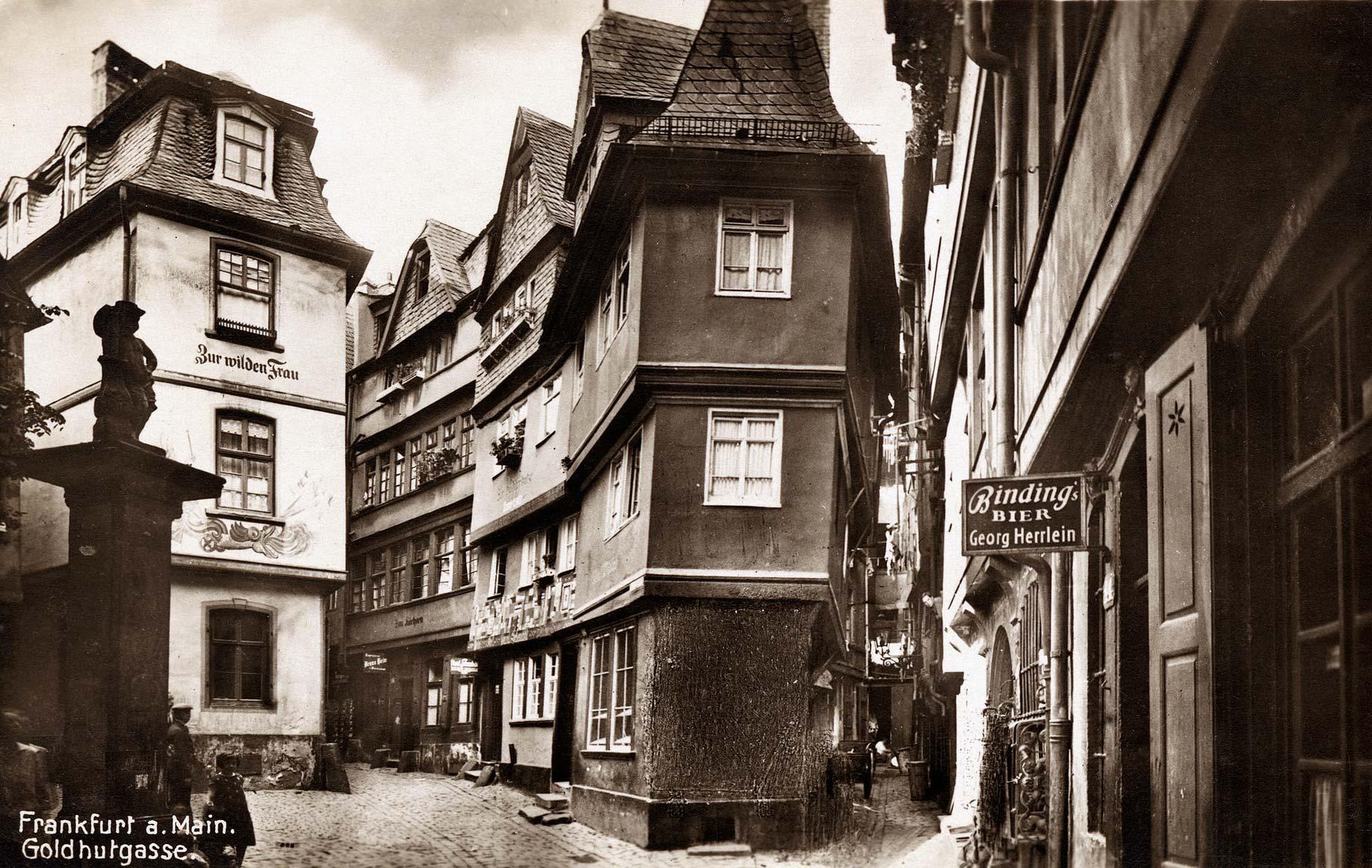 Historische Altstadt Frankfurt am Main - Goldhutgasse 1902