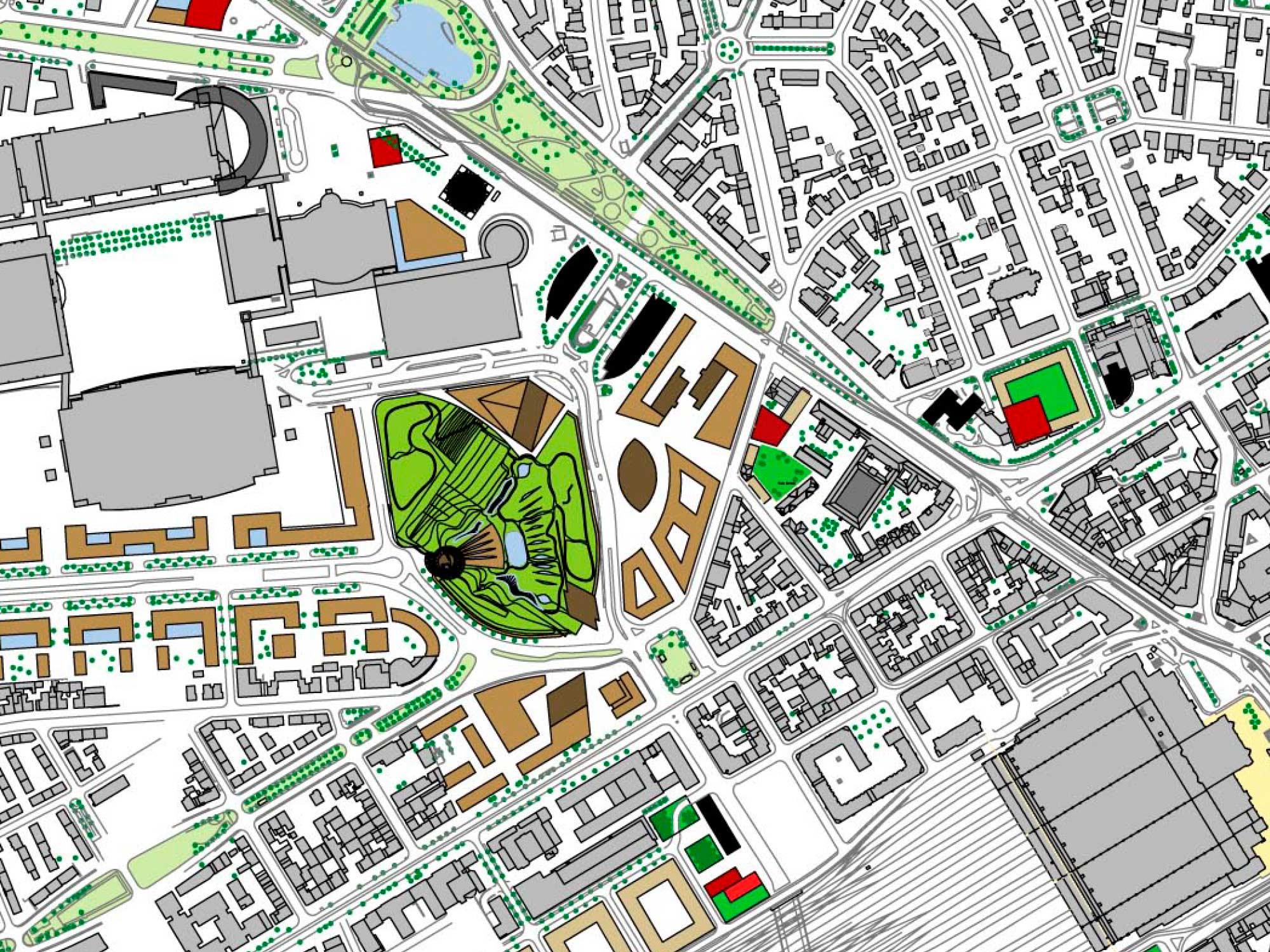 Hochhaus Entwicklungsplan Frankfurt 2008 - Jourdan & Müller PAS