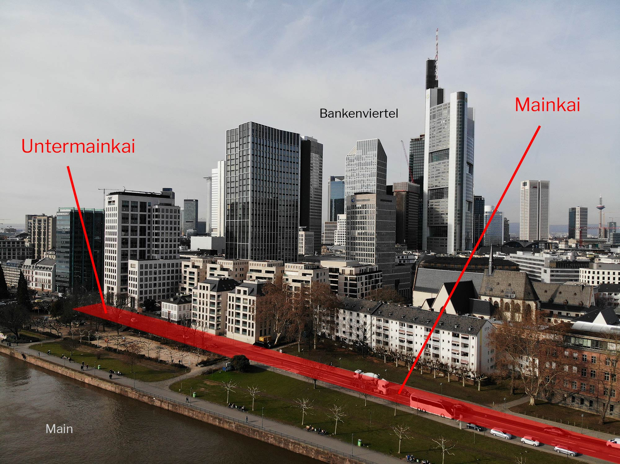 Mainkai Sperrung - Mainkai Petition - Untermainkai - Frankfurt am Main Bankenviertel