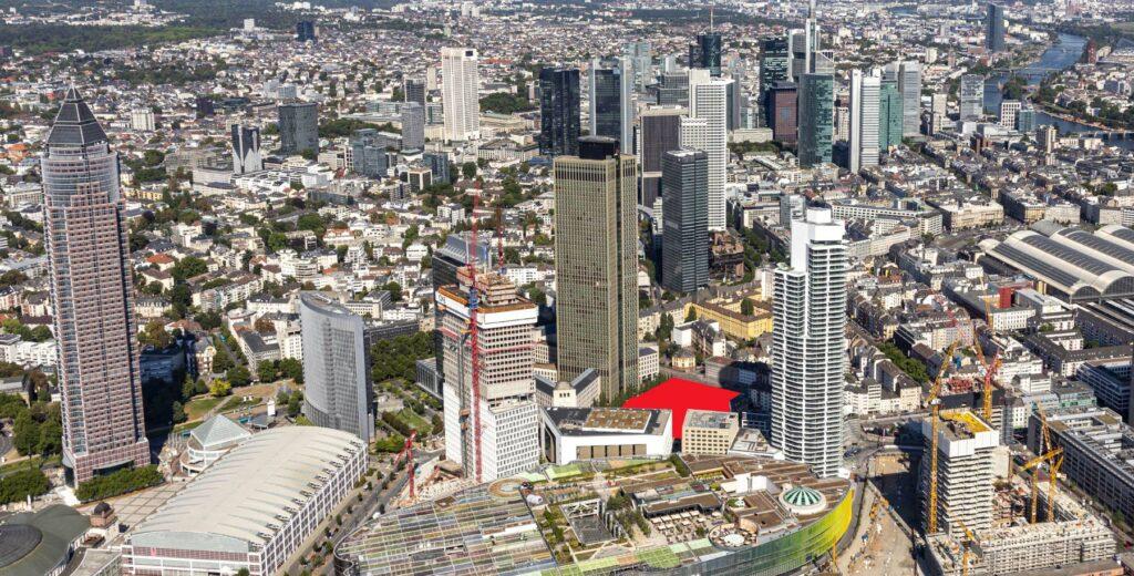 Millennium Areal Frankfurt - Geplante Hochhäuser von CA Immo - Millennium Towers - Panorama Frankfurt für den Architekturwettbewerb