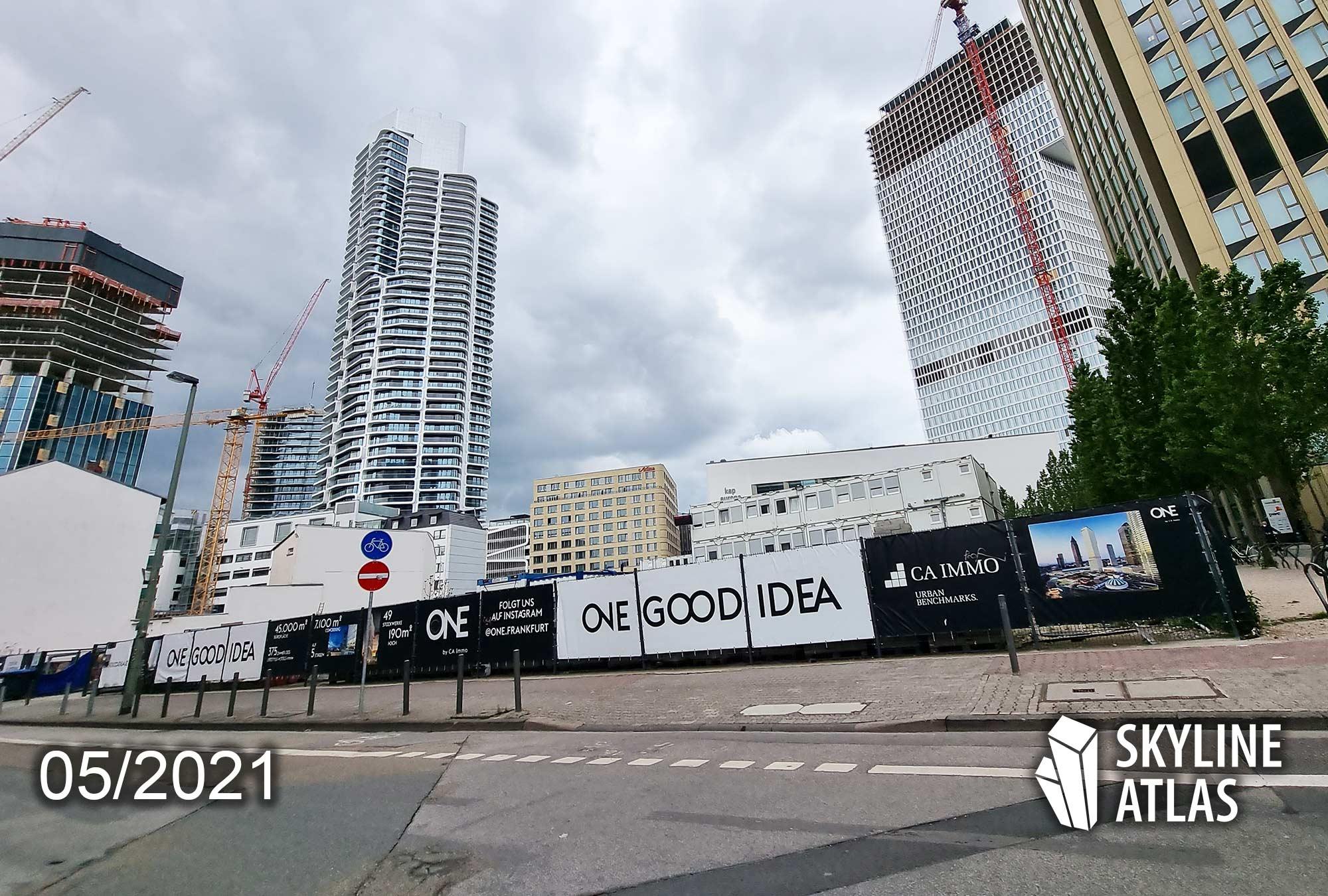 Millennium Towers Frankfurt - Millenium Tower FFM - CA Immo - Baustelle Mai 2021