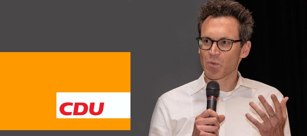 Dr. Nils Kößler - CDU Fraktion Frankfurt - Politiker - Fraktionsvorsitzender - Interview