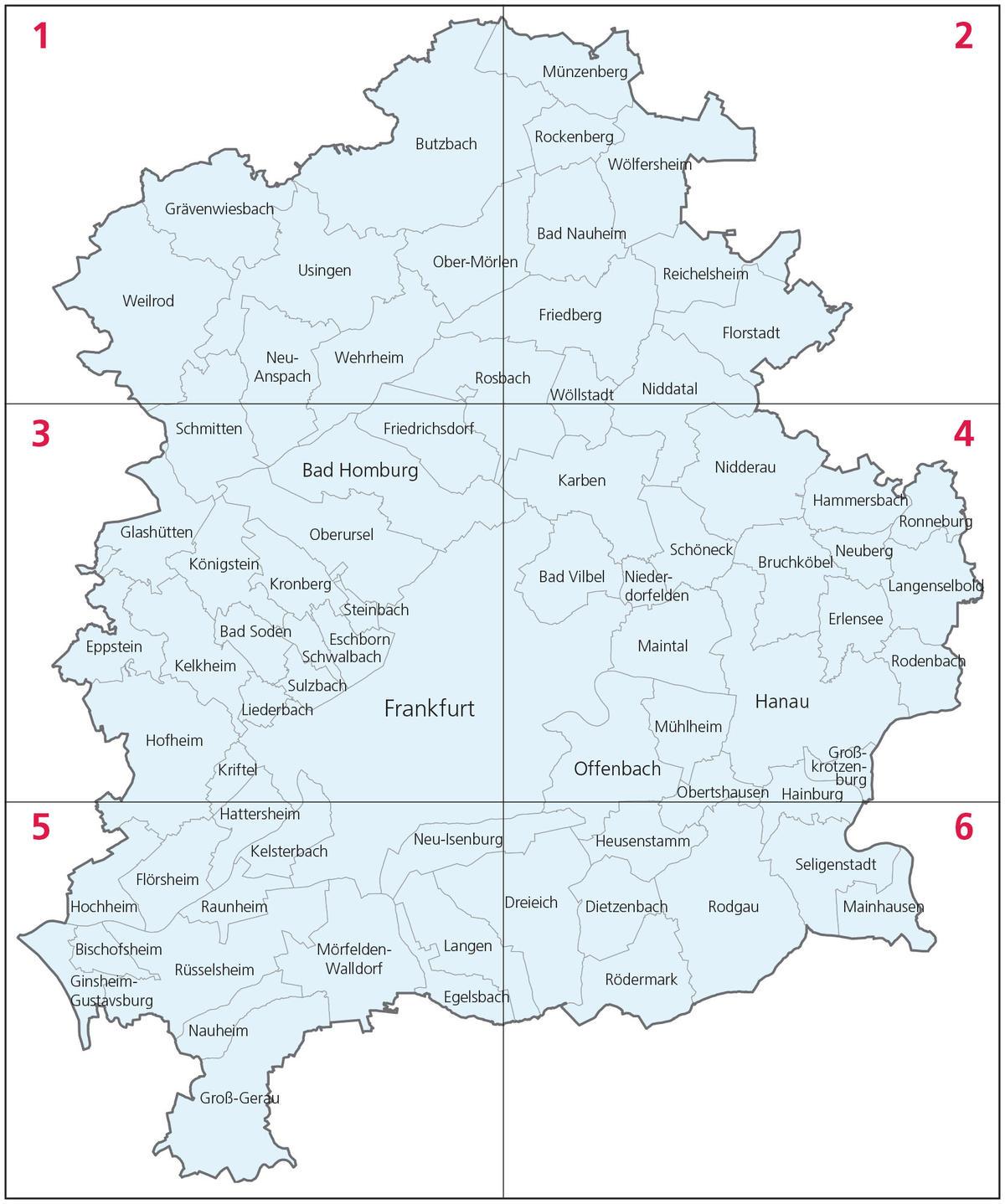 RegFNP - Regionaler Flächennutzungsplan Frankfurt Rhein-Main - Karte