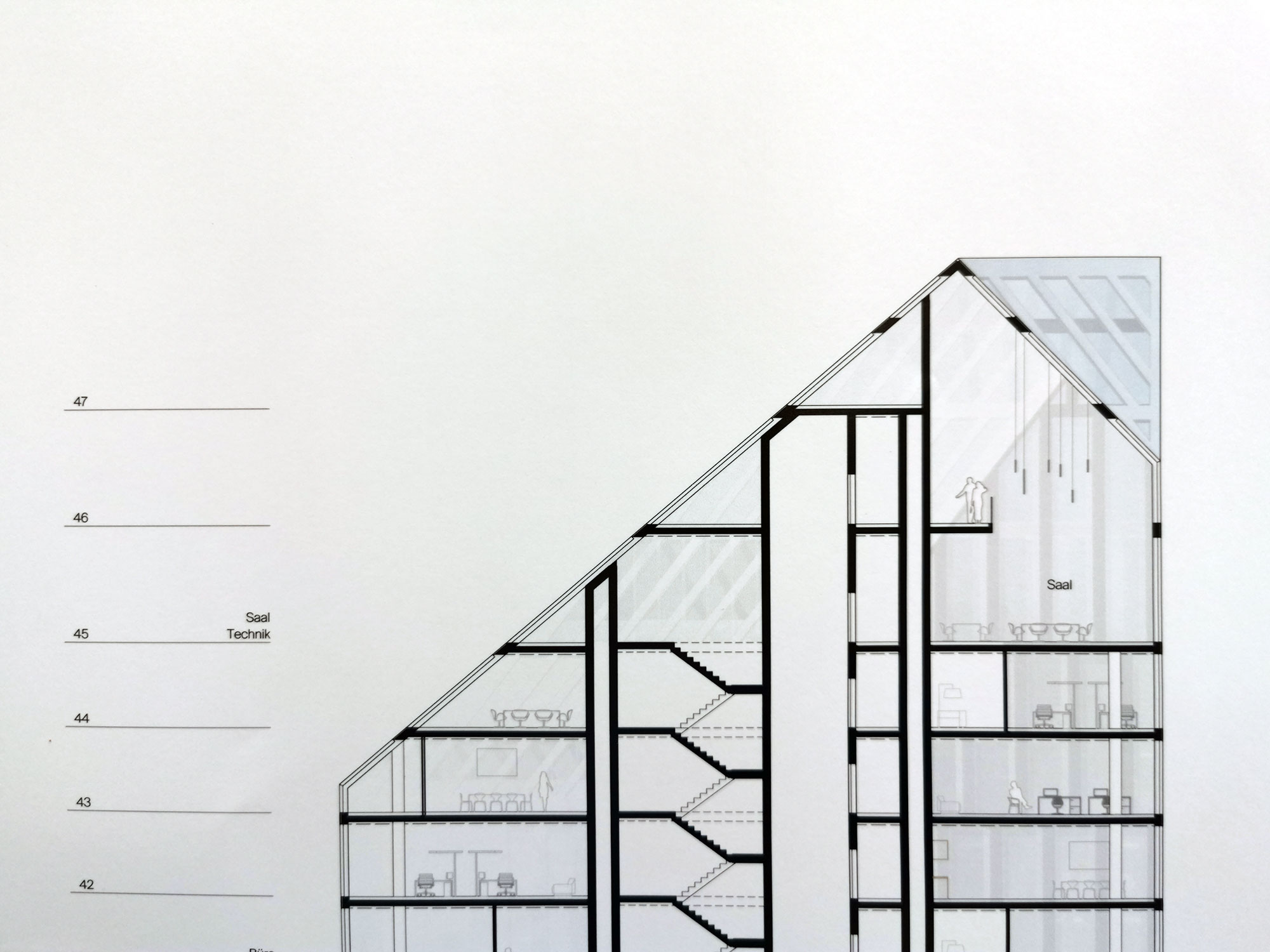 Turmspitze Das Präsidium - Frankfurt Wolkenkratzer am ehemaligen Polizei-Präsidium - Architekt Meixner Schlüter Wendt