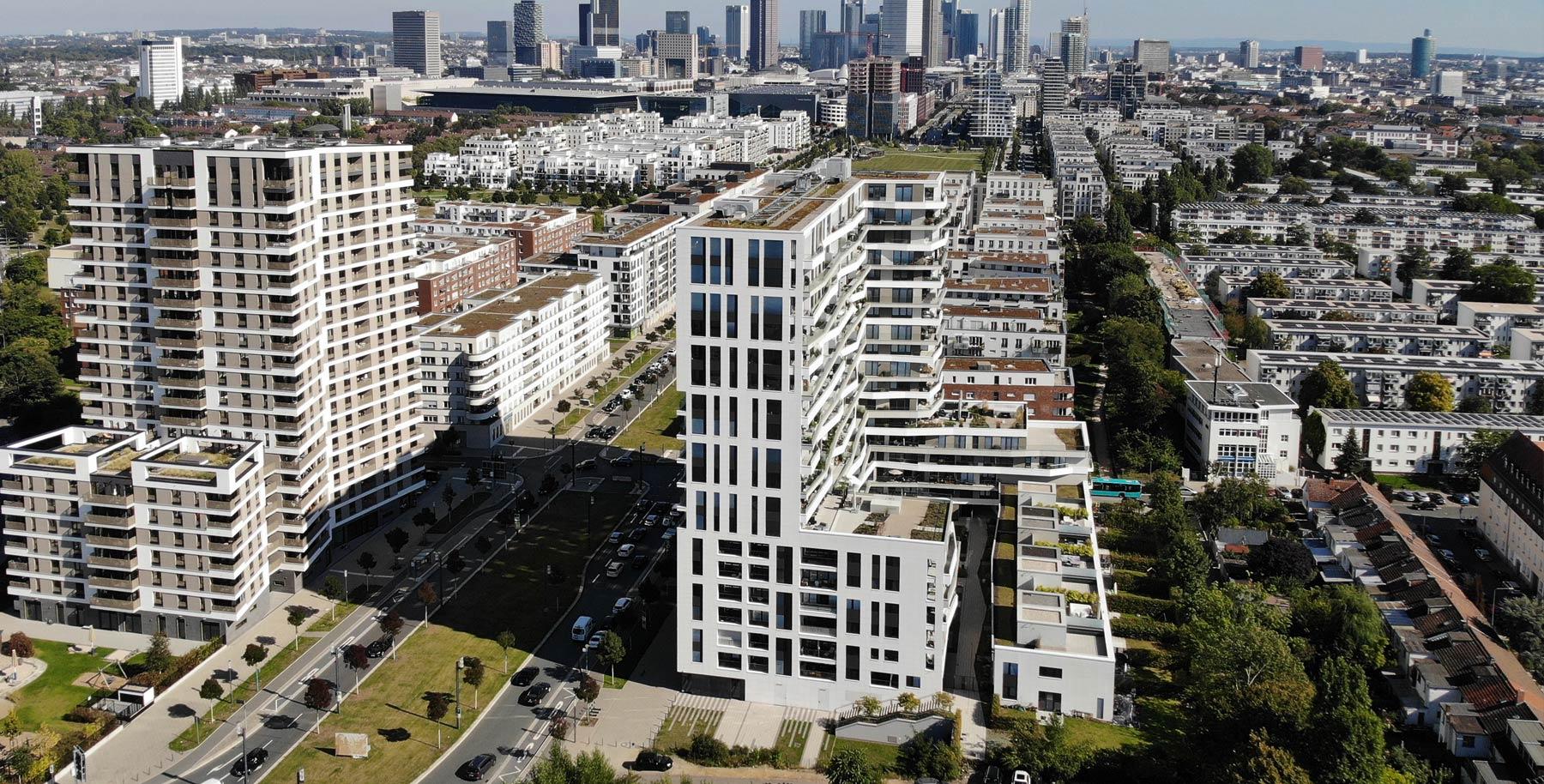 AXIS Frankfurt - AXIS FFM - Luftbild Europaallee - Drohnenfoto Europa-Allee