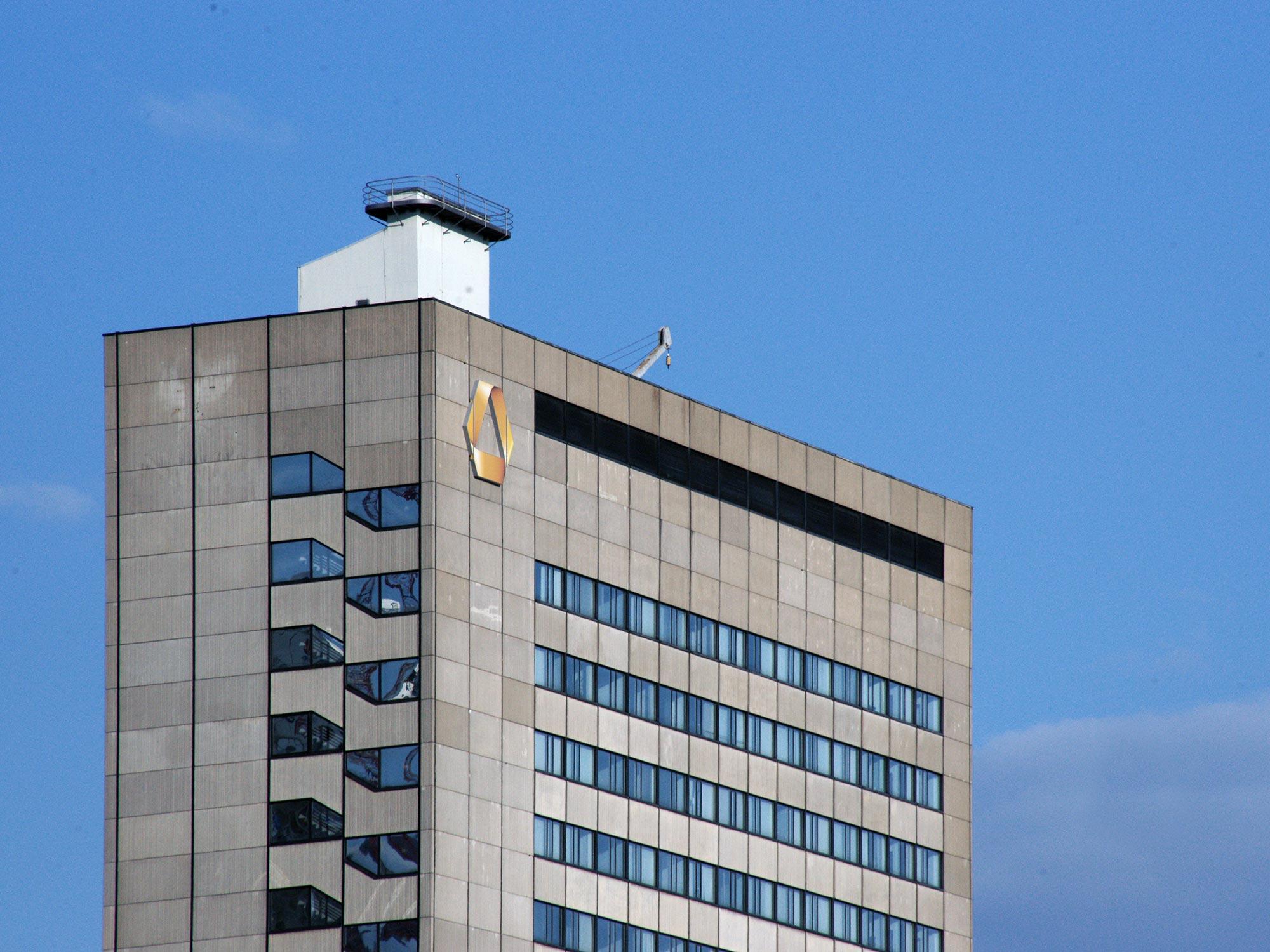 Hochhaus der Commerzbank AG am DLZ (Dienstleistungszentrum) - Hochhaus Commerzbank Trading Center - Posthochhaus - Hochhaus Hafenstrasse Frankfurt am Main