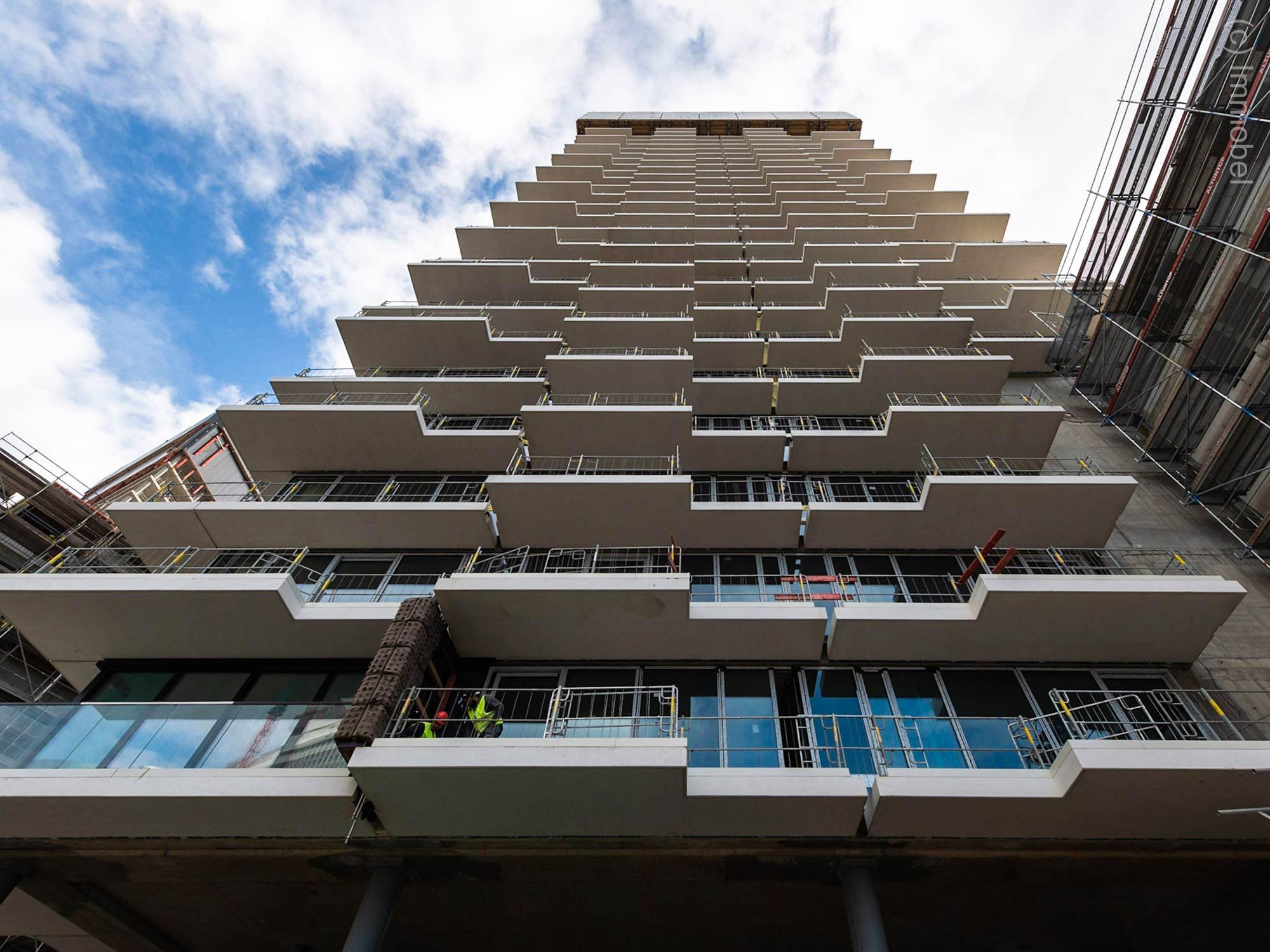 EDEN Tower - Neue Wohnungen und Eigentumswohnungen in Frankfurt - Baustelle
