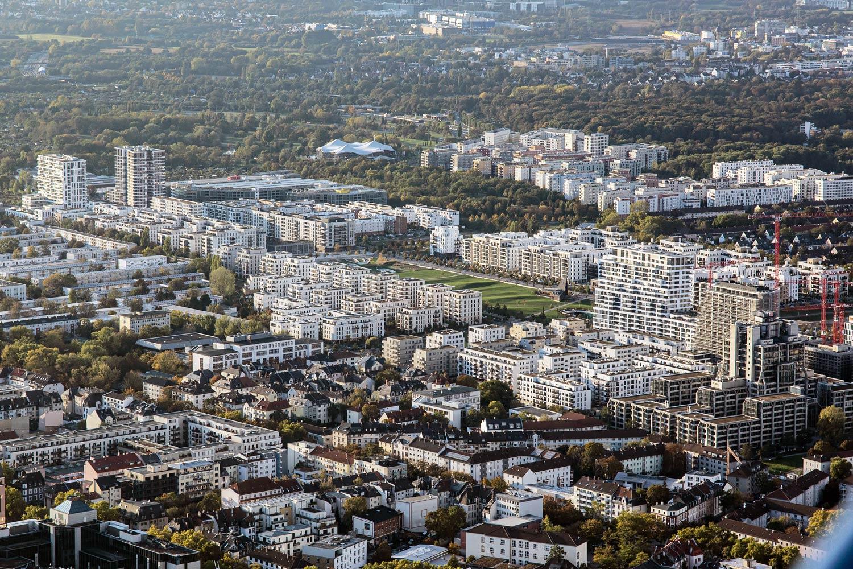 Europaviertel Frankfurt aus der Luft - Luftaufnahme Oktober 2020