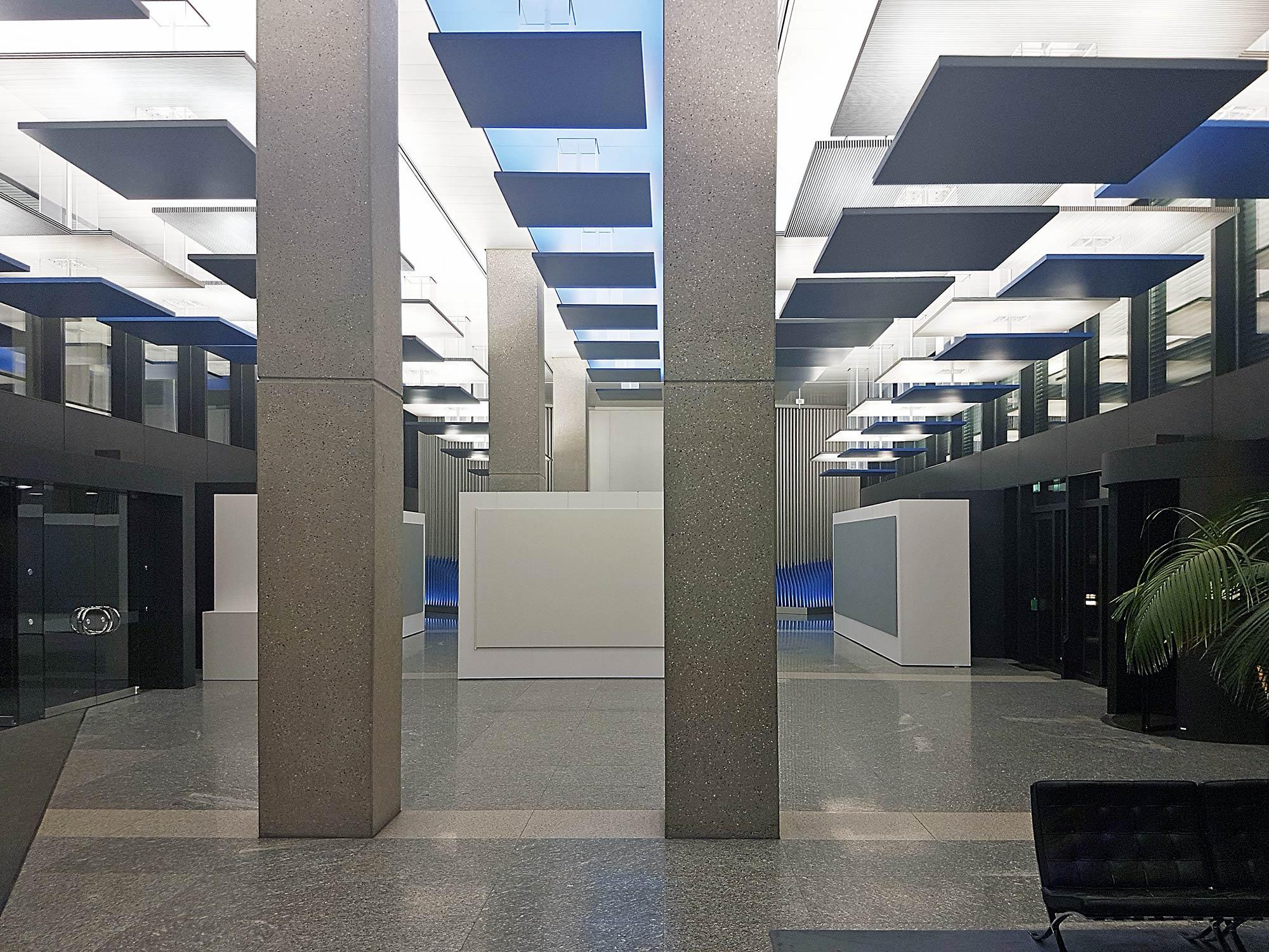 Das Foyer im Hauptgebäude der Bundesbank