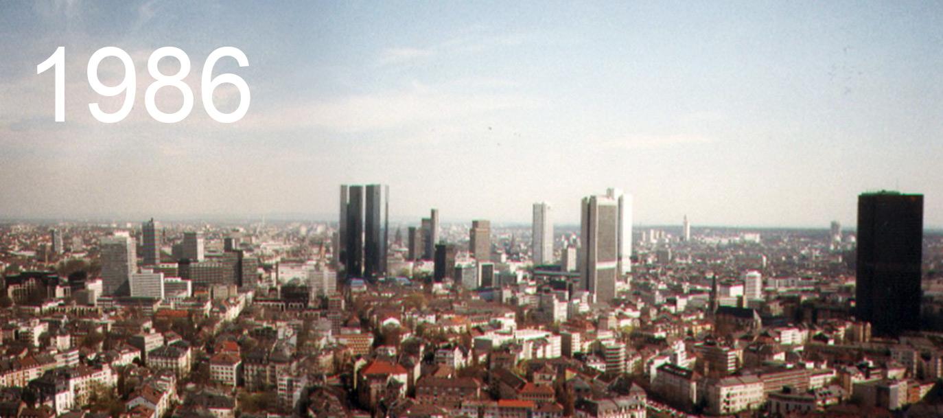 Frankfurt am Main im Jahre 1986 - Hochhäuser früher - fotografiert von Frank Reuter