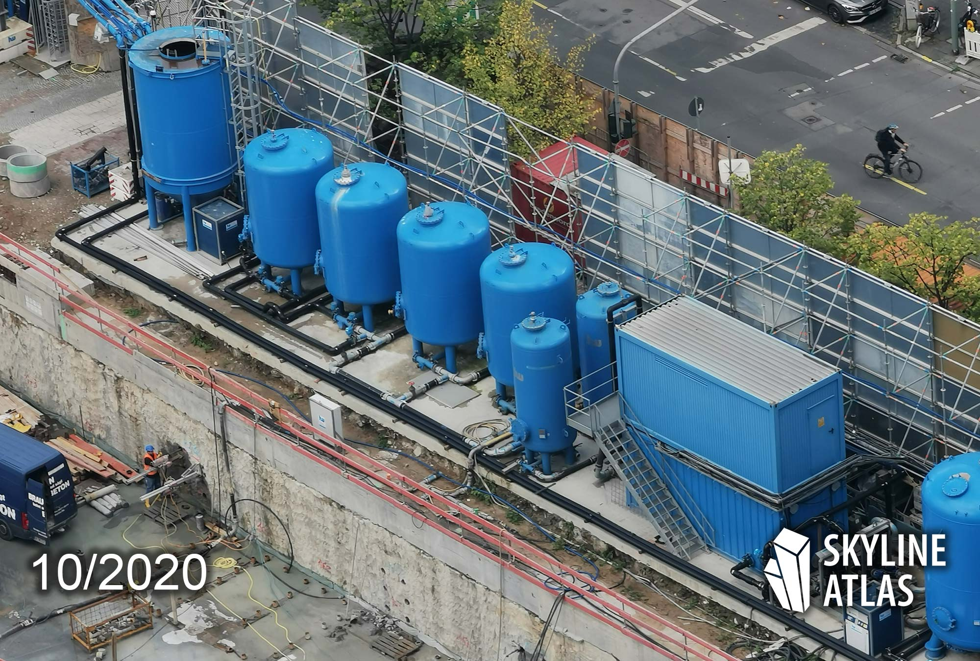 Wassertechnik am FOUR Projekt in Frankfurt