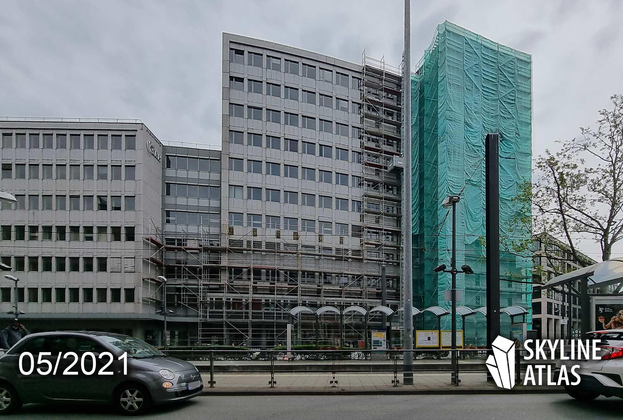 Gutleutstraße 82 Frankfurt - Kreisler Frankfurt am Main - Baustelle Mai 2021 - Rückbau Bürogebäude Frankfurt