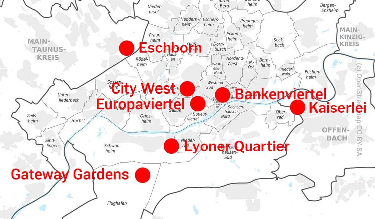 Entwicklungsgebiete Frankfurt