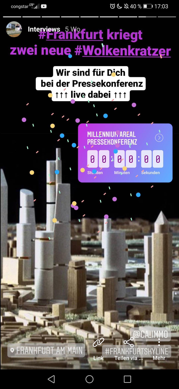 Live dabei auf der offiziellen Pressekonferenz bei CA Immo: zwei neue Wolkenkratzer werden präsentiert