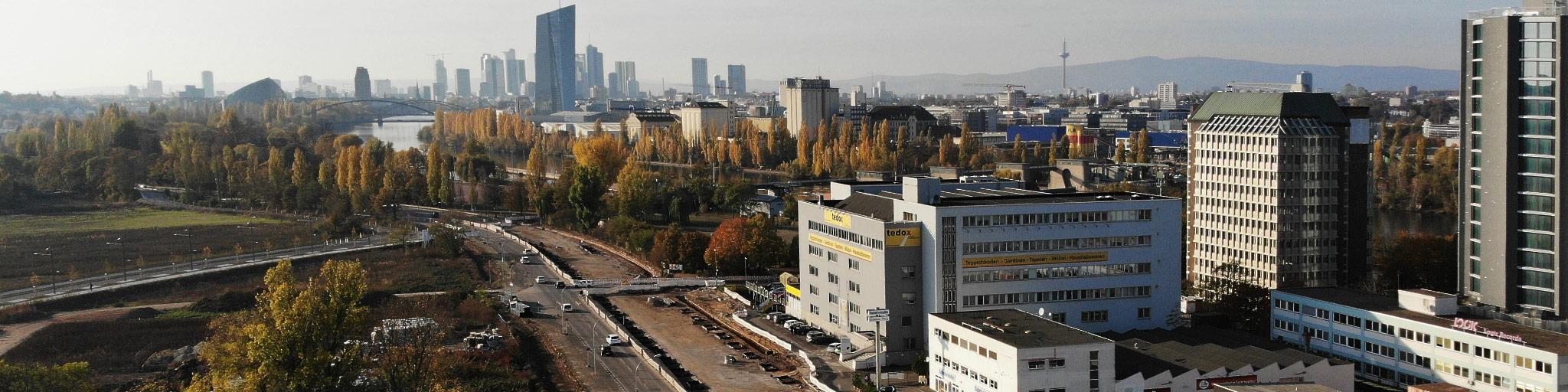 Kaiserlei Offenbach Frankfurt - Kaiserleigebiet - Neuer Bürostandort - Immobilienentwicklungen - Neue Hochhausstandorte