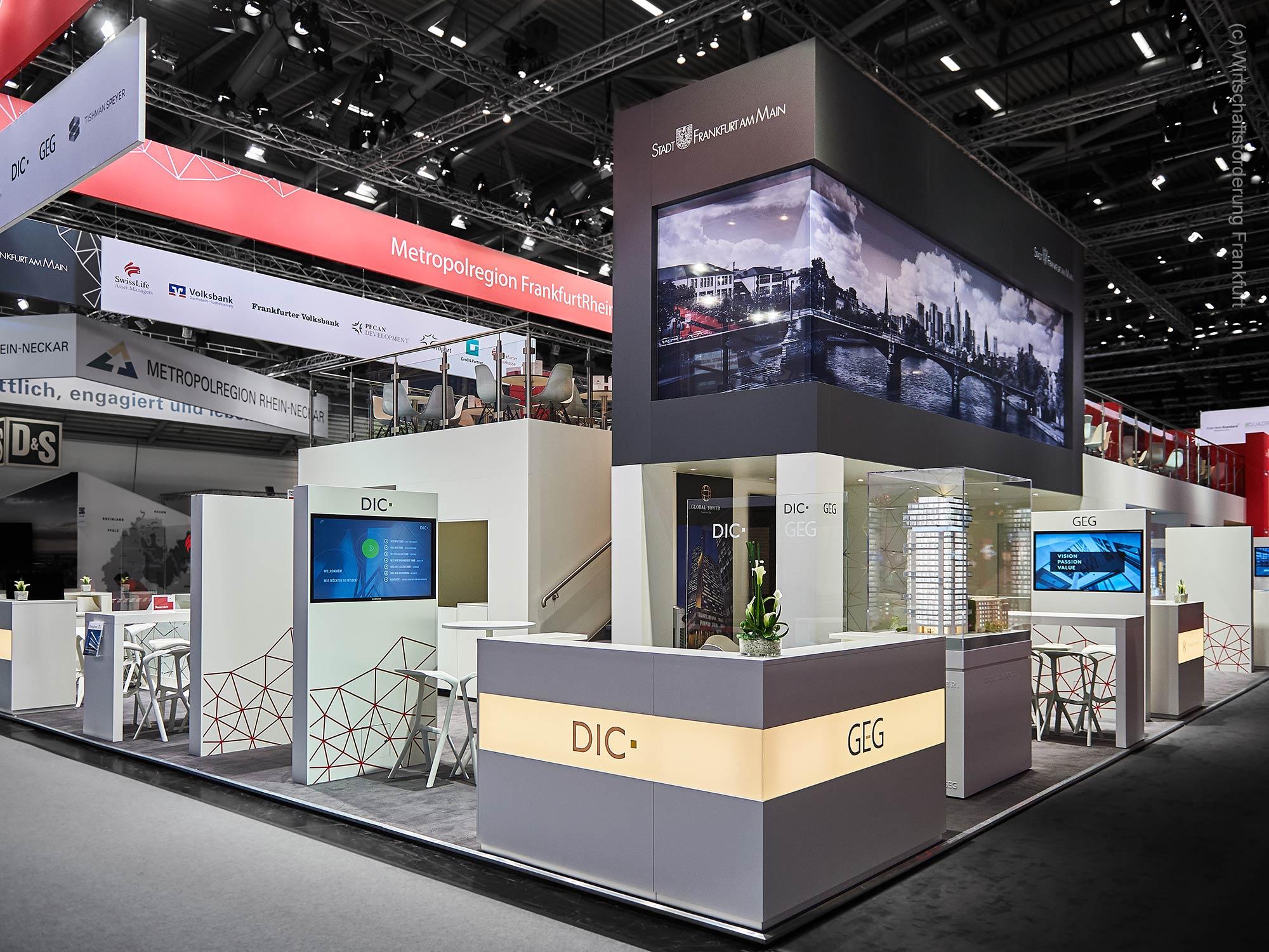 Gemeinschaftsstand Region Frankfurt auf der EXPO REAL - organisiert von der Wifö FFM - Wirtschaftsförderung Frankfurt
