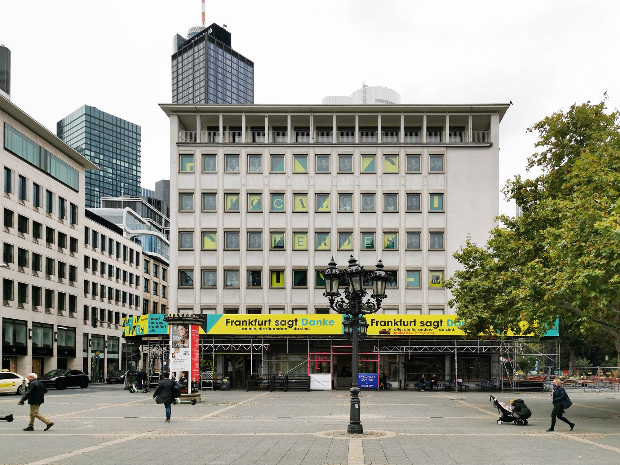 Opernplatz 2 Frakfurt - Neues Hochhaus am Opernplatz - SIGNA Prime - RFR Holding - Popup Restaurants im Haus Opernplatz 2
