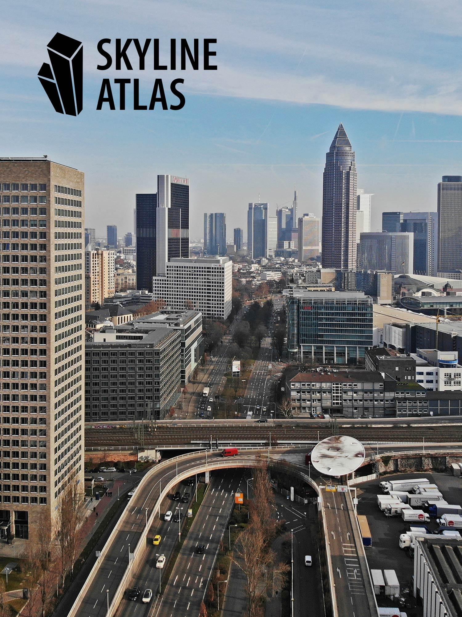 SKYLINE ATLAS - Architekturführer Frankfurt - Immobilienführer Frankfurt am Main - Panorama Frankfurt - Hochhäuser Drohnenaufahme