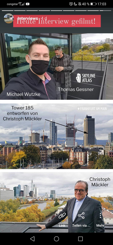 Architekt Prof. Christoph Mäckler im Interview mit dem SKYLINE ATLAS - hier unser Instagram Post dazu
