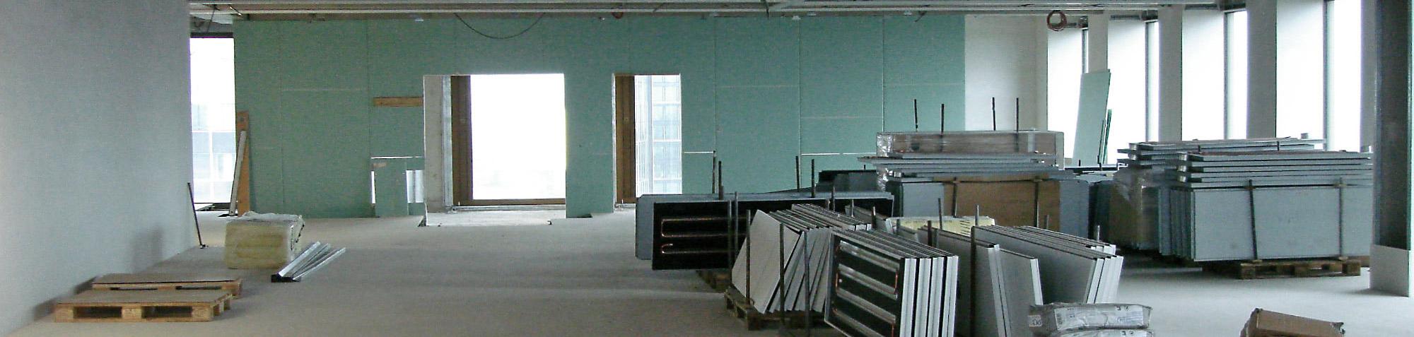 BGF - Bruttogrundfläche Definition - Bruttogeschossflaeche Definition - Innenraum Baustelle - Hochhausbaustelle - Flächendefinition - Bruttogeschossfläche