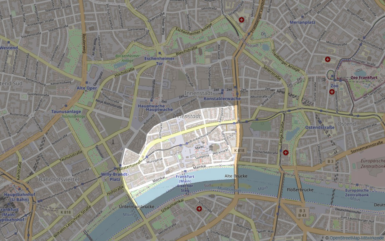 Altstadt Frankfurt - Karte - Plan
