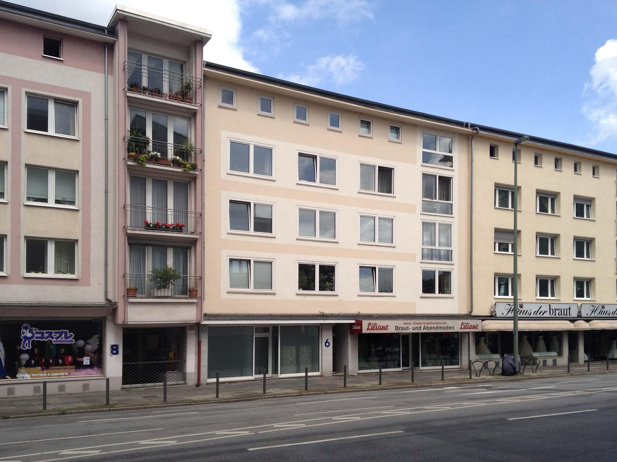 Nachkriegsarchitektur Frankfurt - Architektur der 1950er und 1960er Jahre - Berliner Straße 6 in Frankfurt am Main - Altstadt