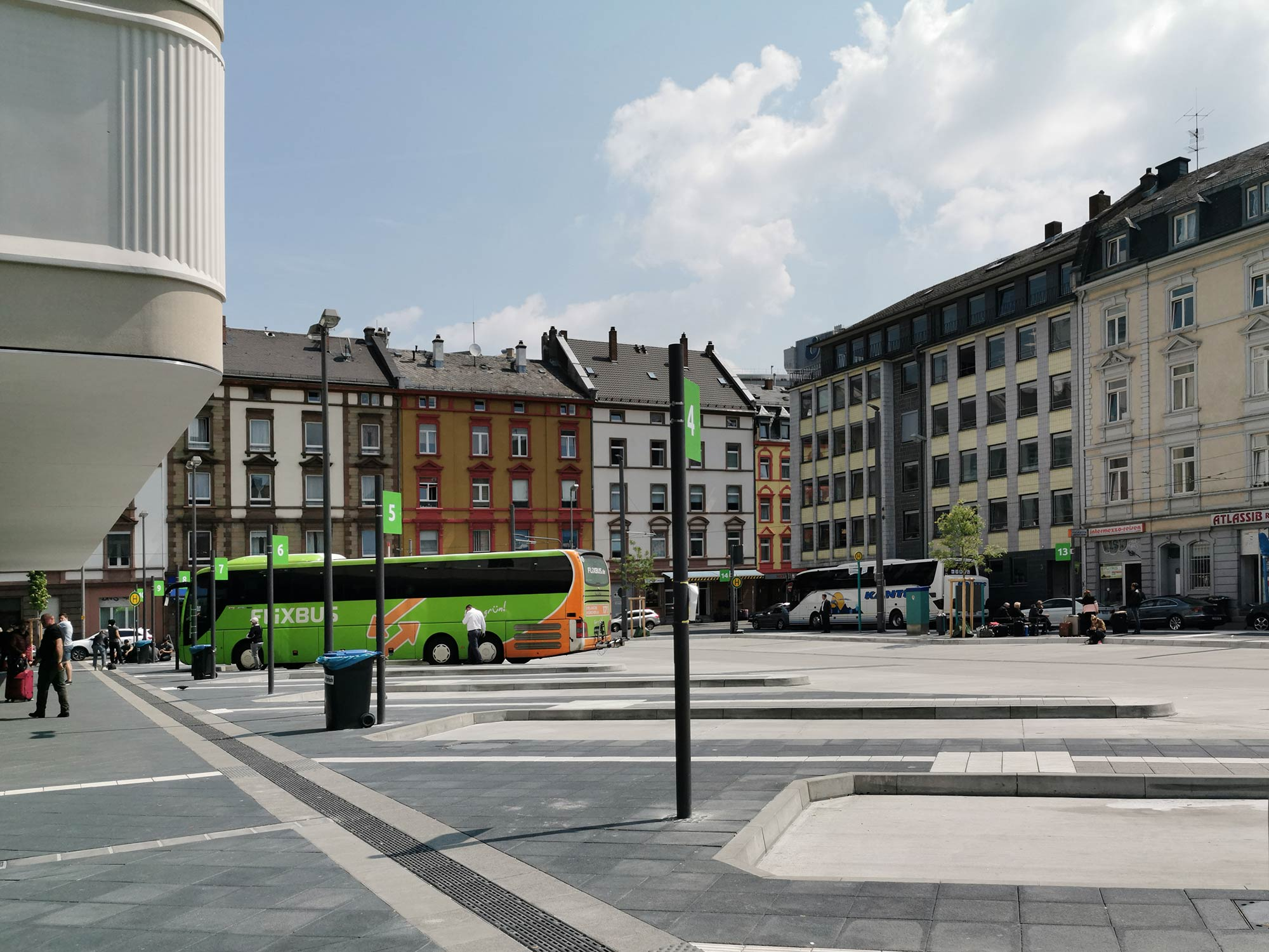 Der ZOB Frankfurt am Main am Hauptbahnhof gehört mit zum Entwicklungsgebiet