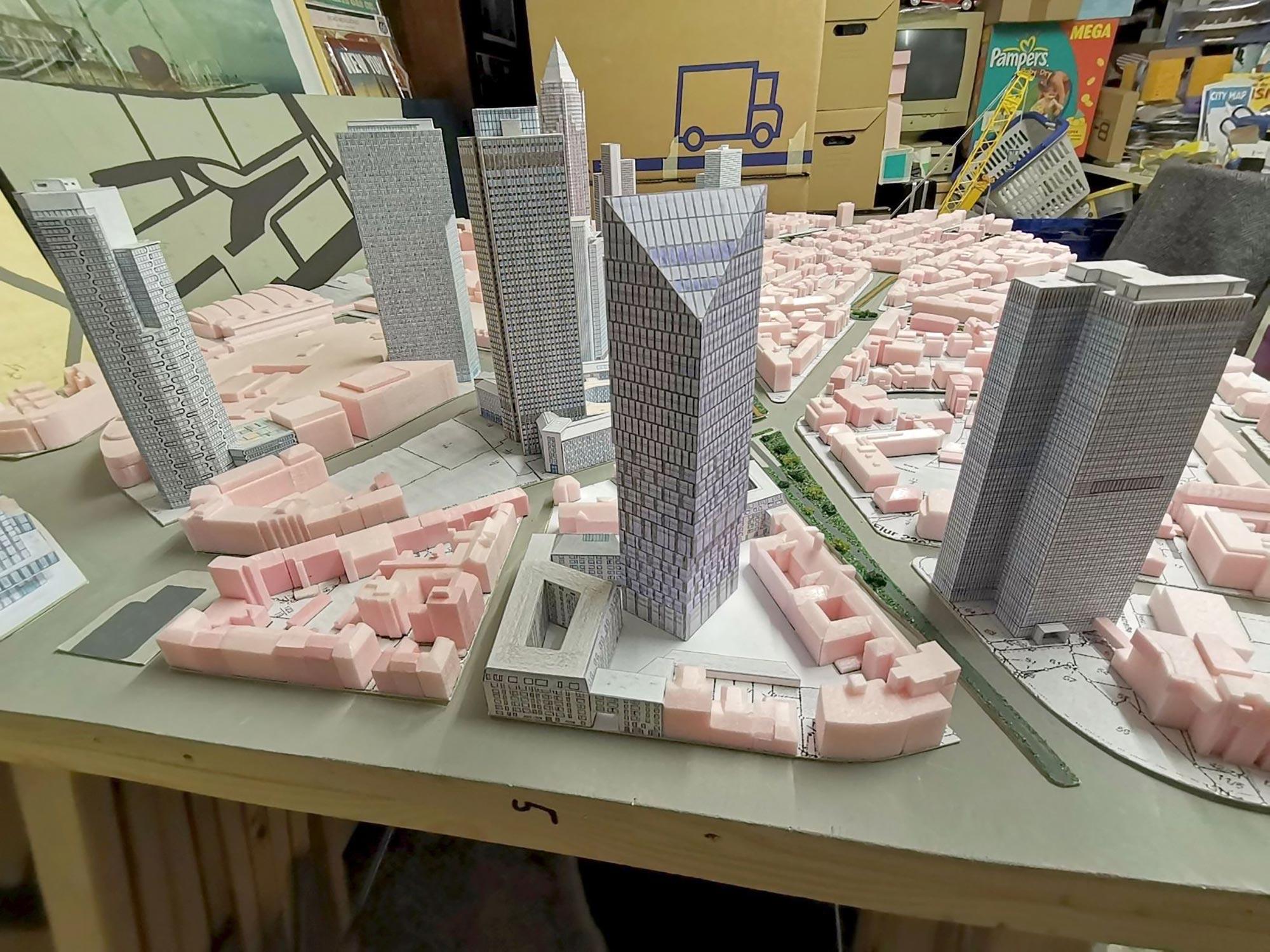 Das Präsidium ist fertiggestellt - hier in Frank's Stadtmodell